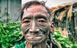 nagaland,india,tribe,head hunter,face tattoo