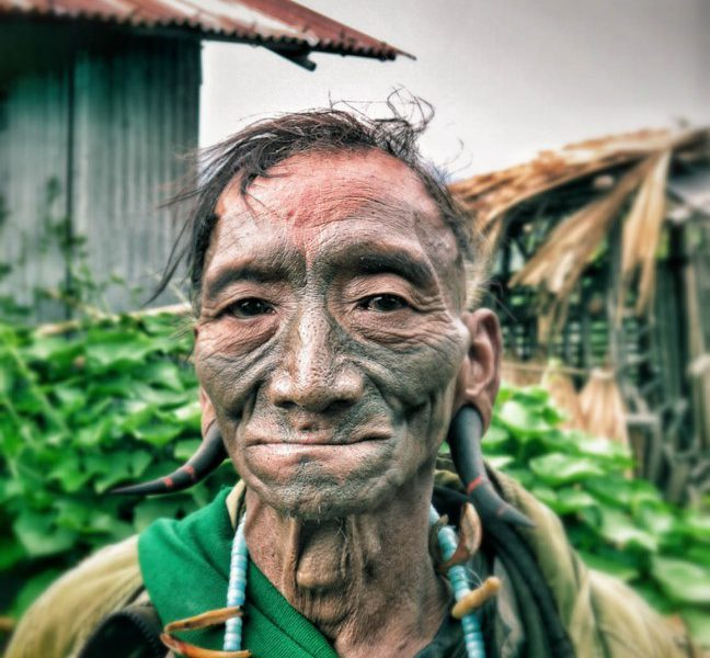 nagaland,india,tribe,head hunter,face tattoo