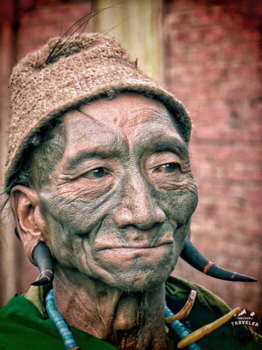 The last real headhunters in India. #India ,#Nagaland , #Tattoo ,#tribe , #face_tattoo #head_hunter
