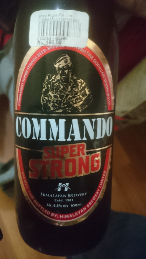 Commando super-strong beer in Nepal