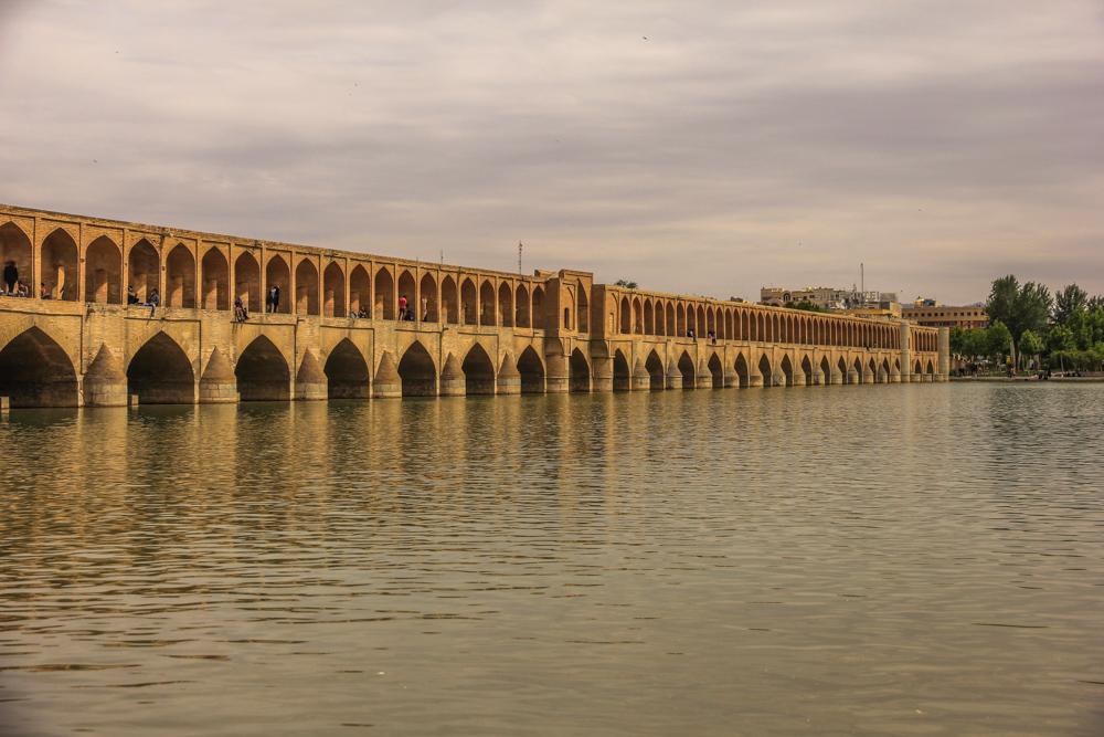 Si-o-Seh Pol bridge,Esfahan,Iran,mosque
