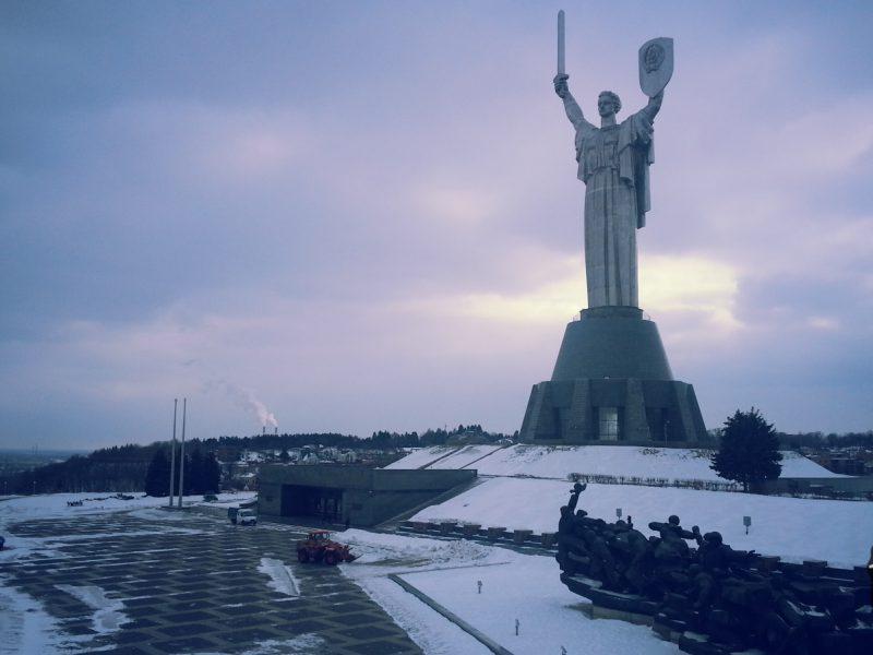 The mothermoterland statue in Kiev, Ukraine. #ukraine,#kiev
