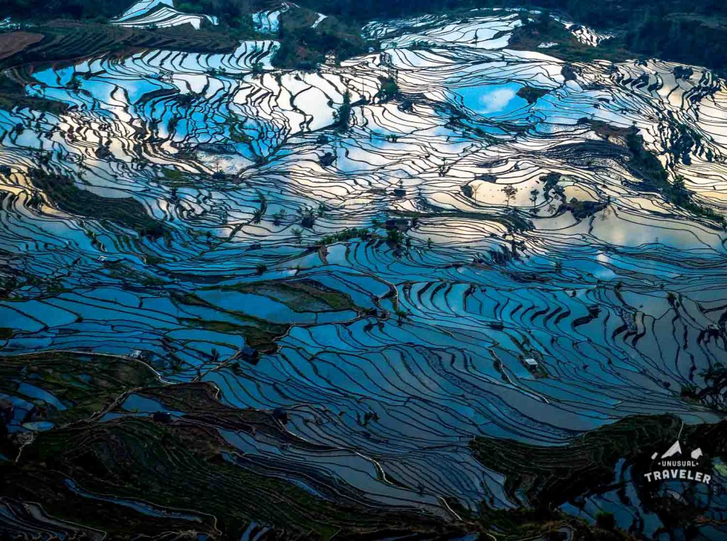 Yuanyang Rice Terraces in Yunnan province in China #Yuanyang #Yuanyang RiceTerraces #China #landscape,#traveltips