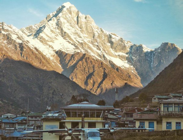 A small flight just arrived at Lukla Airport in Nepal, often said to be the most dangerous ariport in the world. #Lukla,#nepal,#airport,#everest,#floght