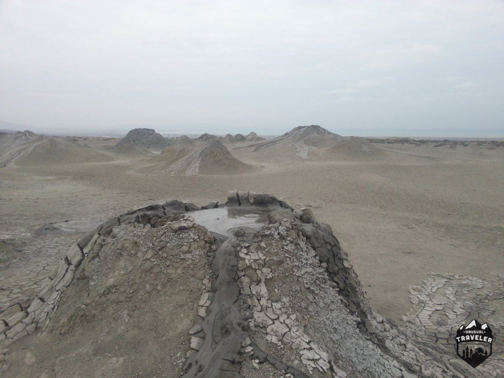 some of the mud volcanoes thats located around Gobustan National Park