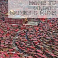 Larung Gar is home to the largest buddhist institue in the world