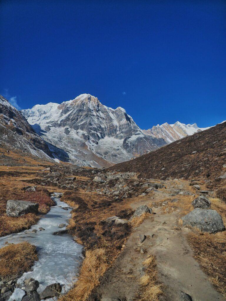 Last steps befre reaching Annapurna Basecamp