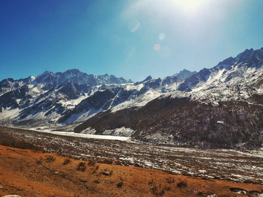 The Langtang mountains seen from Kyanjin Gompa
