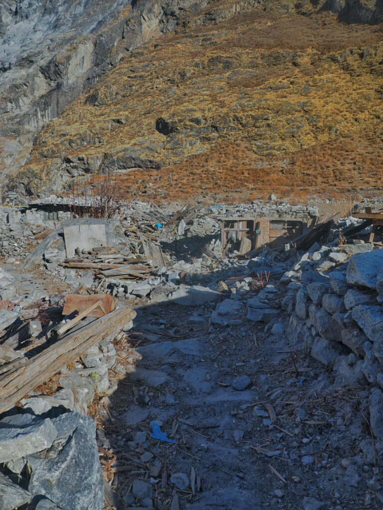 Where Langtang Village once used to stand