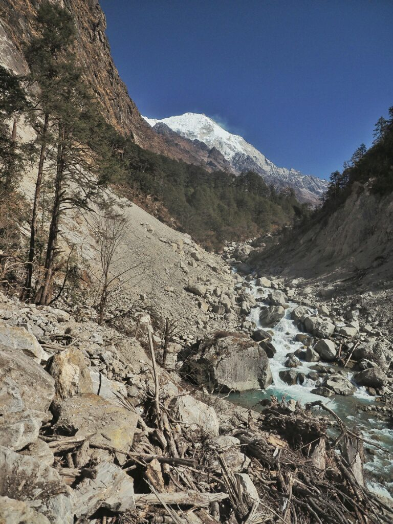 One of the landslides where the path used to be