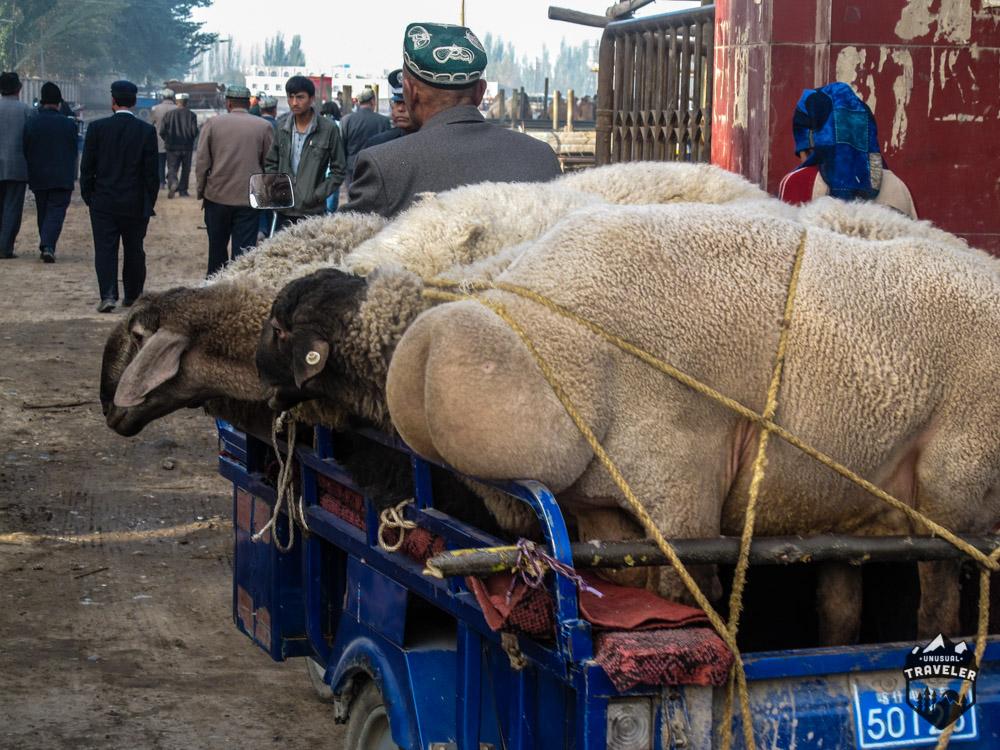 Kashgar market,kashi,sunday market.