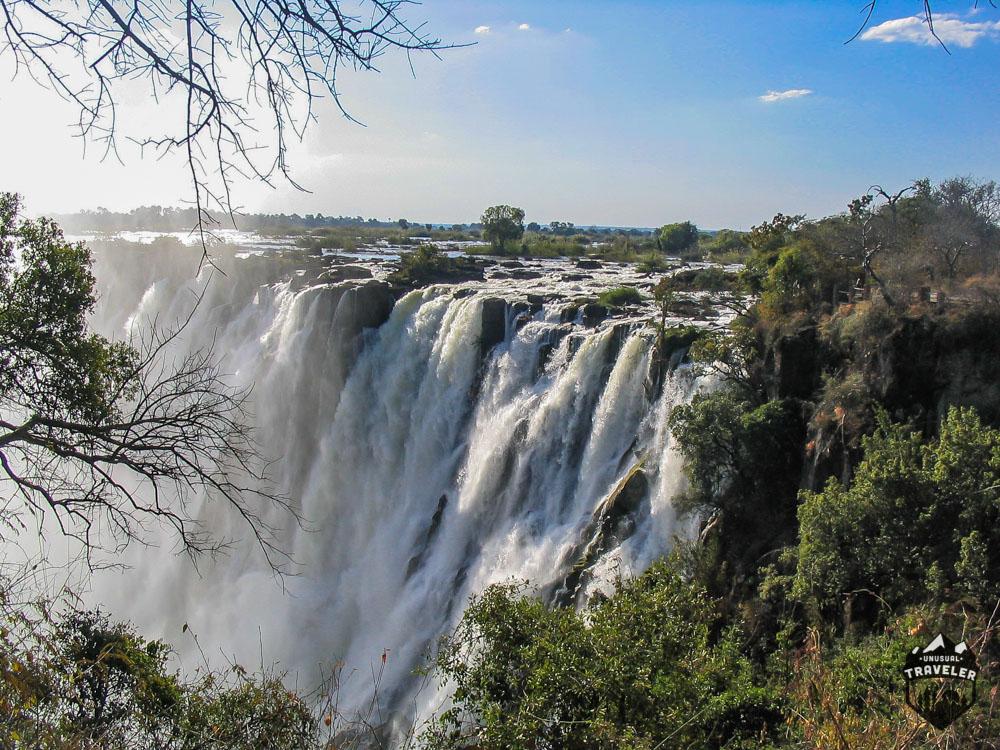 victoria falls view, zambia, africa