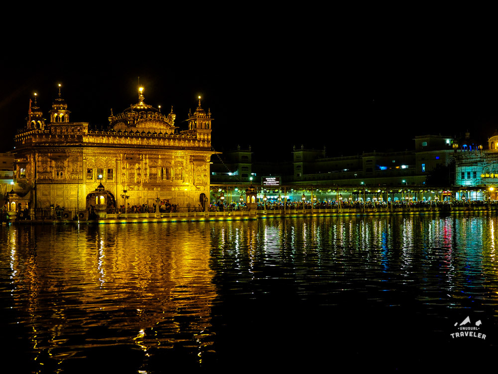 Golden Temple Night View in India