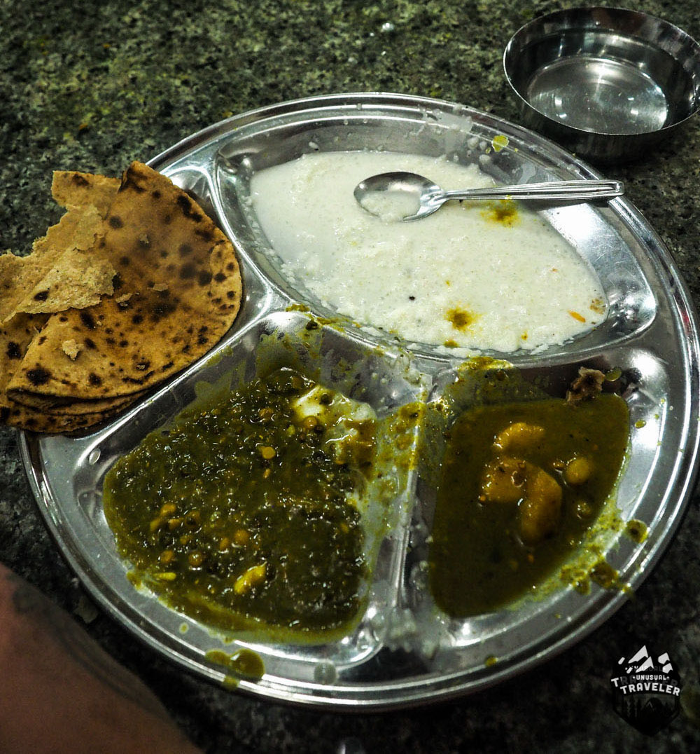A plate of the food in the Golden Temple in India