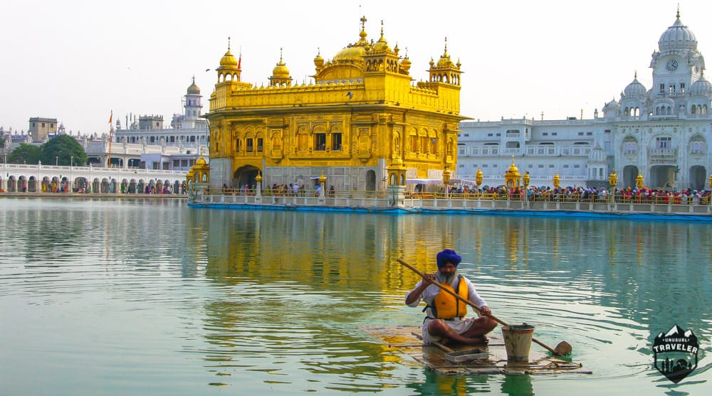lake cleaning at golden temple amritsar india