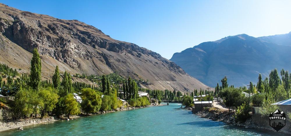 Tajikistan Khorugh river