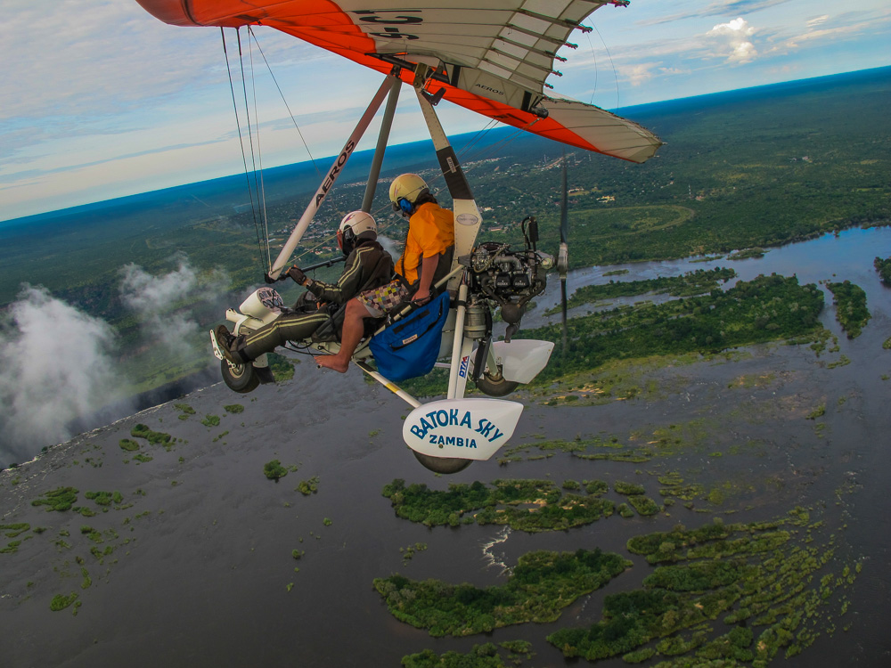 microlight flight victoria waterfalls zambia