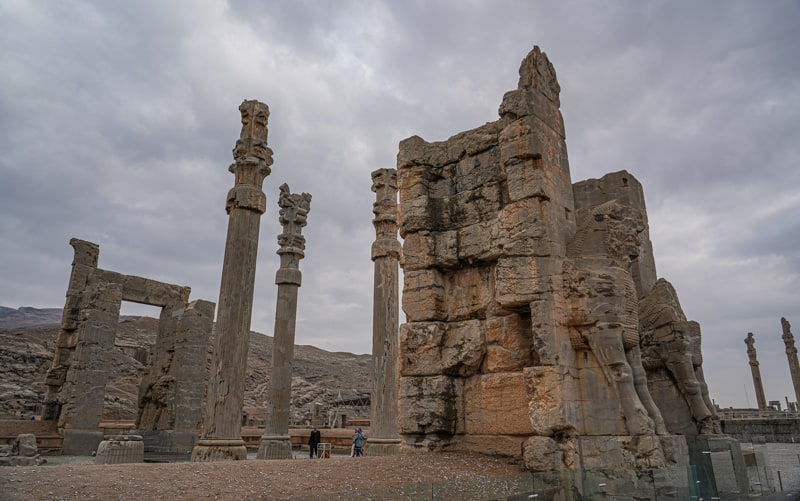 Gate all nations form the side in Persepolis