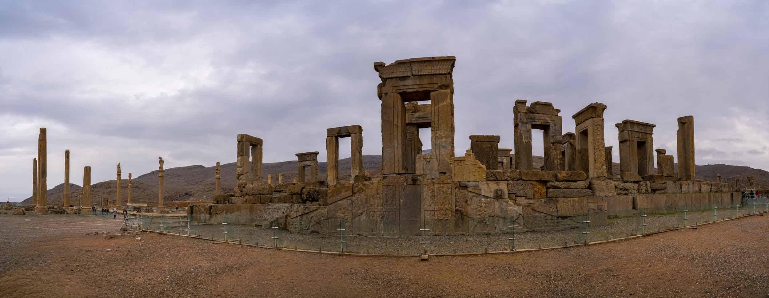 The main temple inside Persepolis in Iran