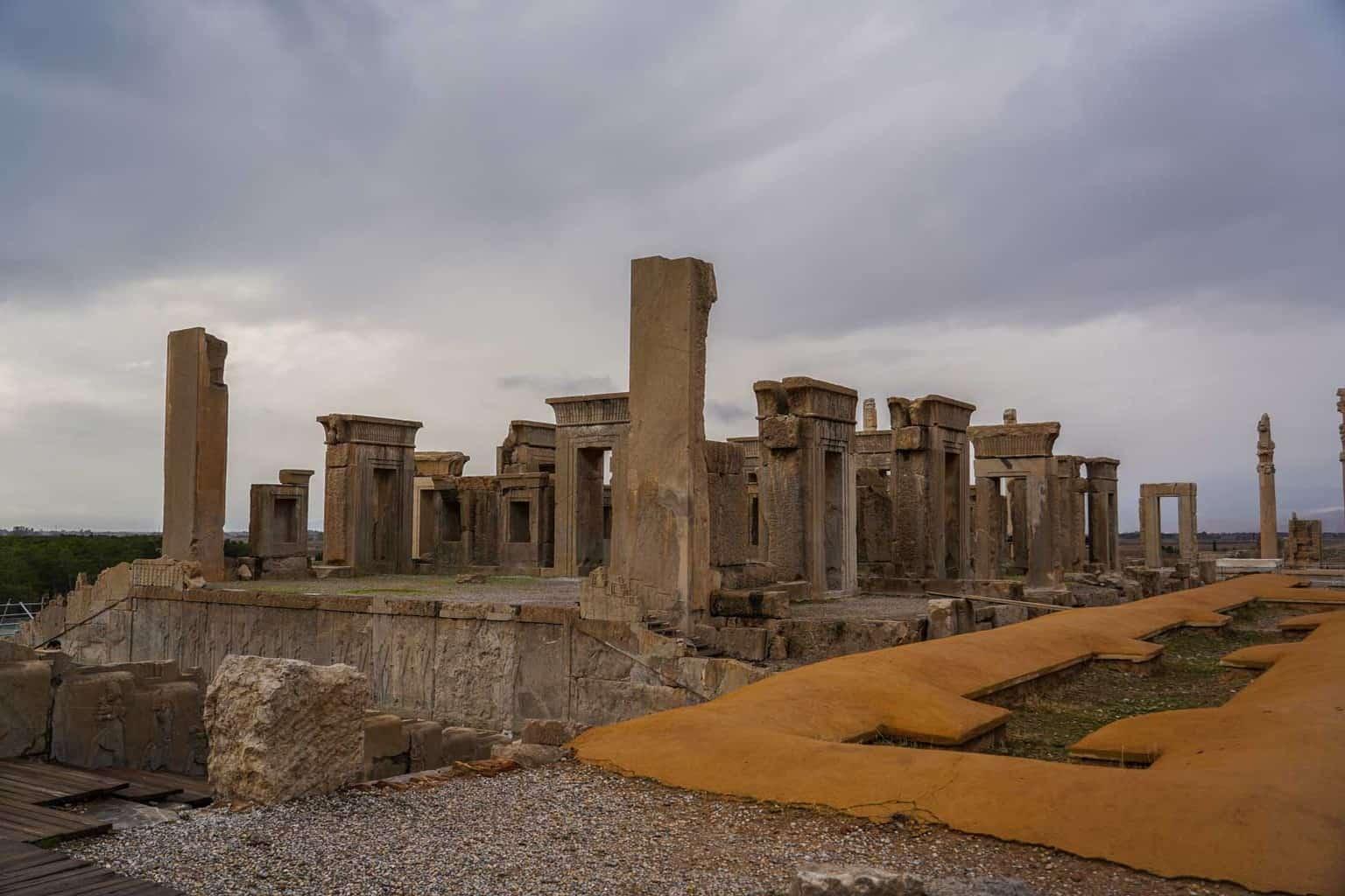 visting Persepolis in Iran
