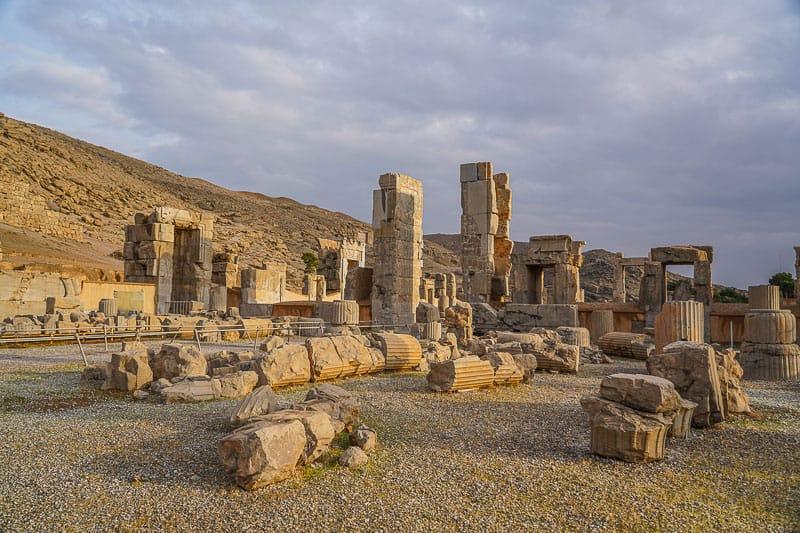 Persepolis stone ruins in Iran