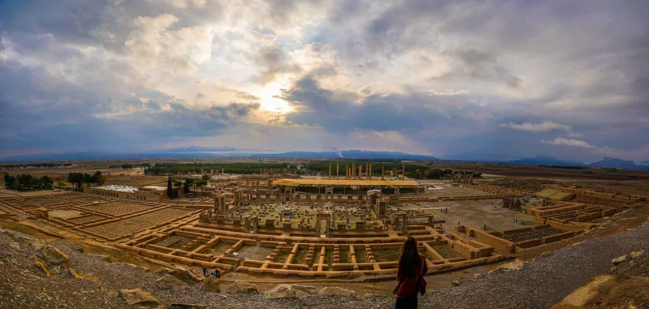Overlooking Persepolis a must visit in Iran