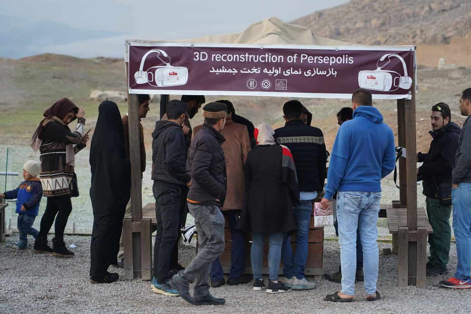 The que for borriwing the virtual glasses, it´s worth it. 3d glasses in Iran