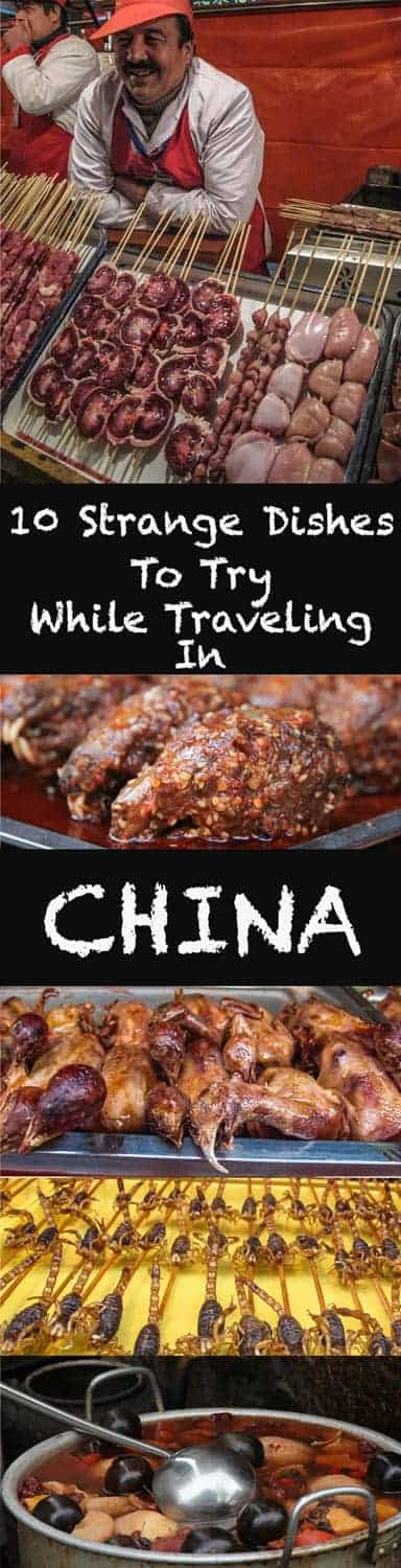 China has to have the widest varietyof food in all the world; there´s a saying in China: We eat everything with legs except Chairs and Tables. And that's probably not far from the truth.