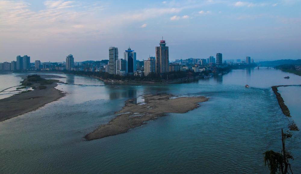 leshan buddha, leshan city. dudu river