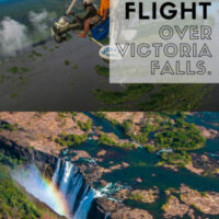 Taking a MicroFlight over Victoria flights in Zambia /Zimbabwe in Africa