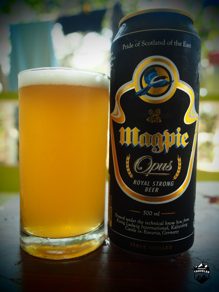 Magpie Royal Strong beer from Meghalaya
