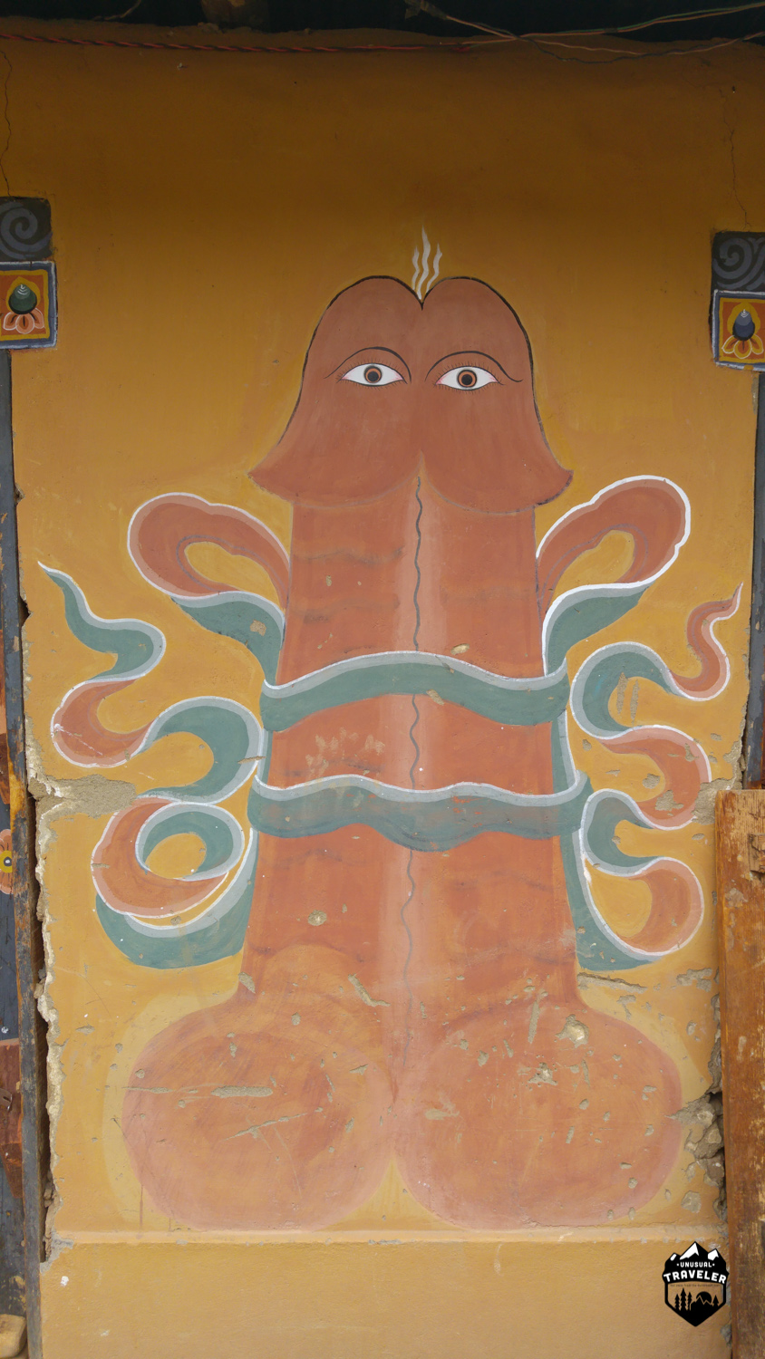 It is symbolic of the teachings of Drukpa Kunley, an eccentric saint who travelled in Bhutan