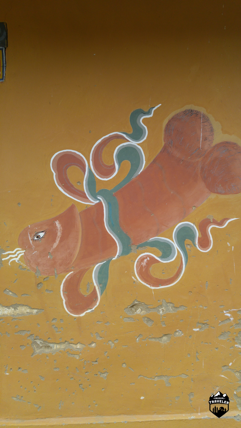 It´s very common to see fully erected penises painted on house walls in Bhutan.