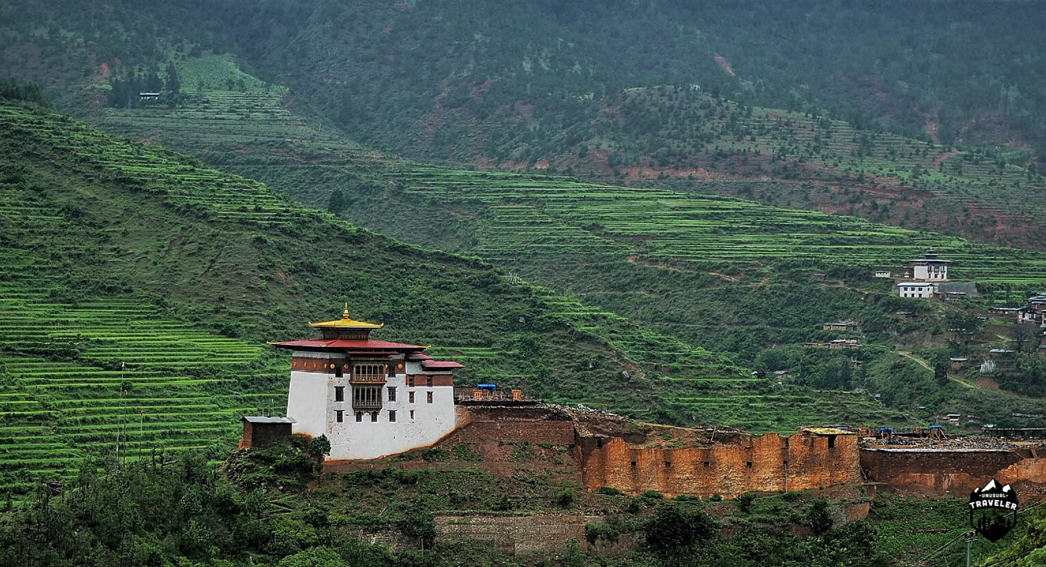 There´s 20 Dzongs around the country, here the remains of Wangdue Phodrang Dzong in western Bhutan.