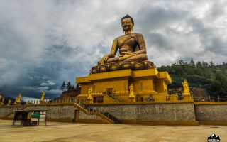 The world's biggest sitting Buddha statue is currently being constructed in Bhutans capital Thimphu. The Buddha statue will be 51,5 high and accommondate 125 000 smaller Buddha's inside.