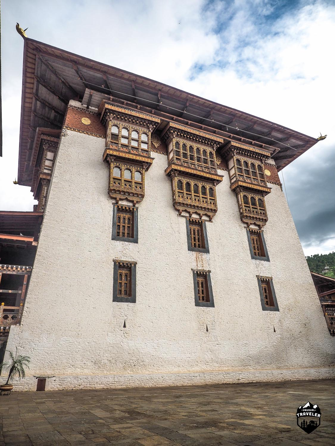 The Utse of Punakha Dzong.