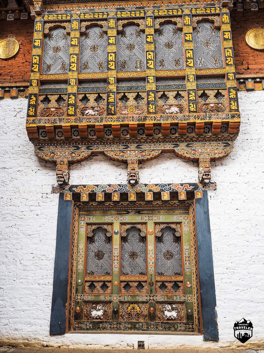 The most impressive wood frames in the world? Made completely without help of modern tools inside Punakha Dzong.