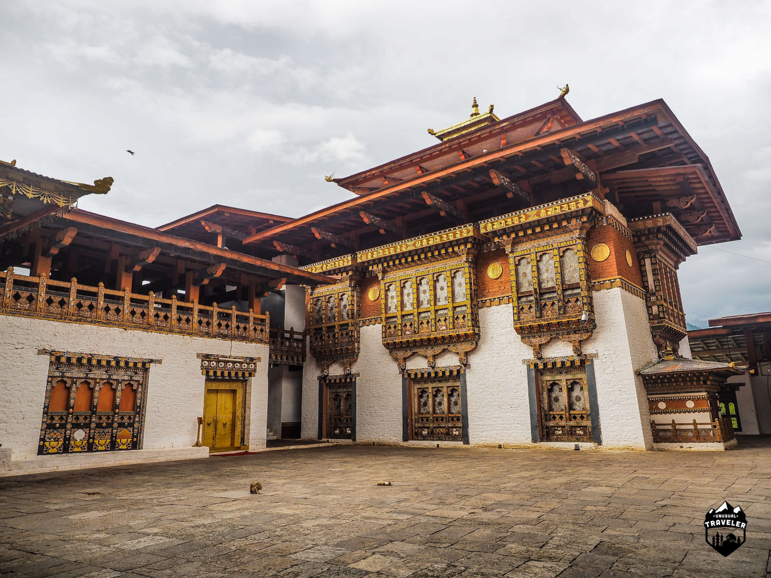 Parts of Punakha Dzong, made completely without modern tools and nails.