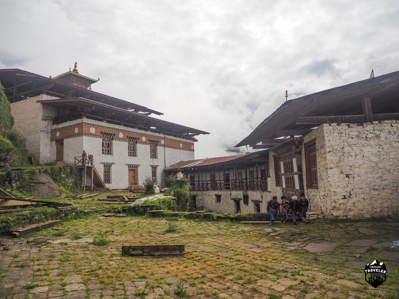 The main courtyard inside the Dzong.