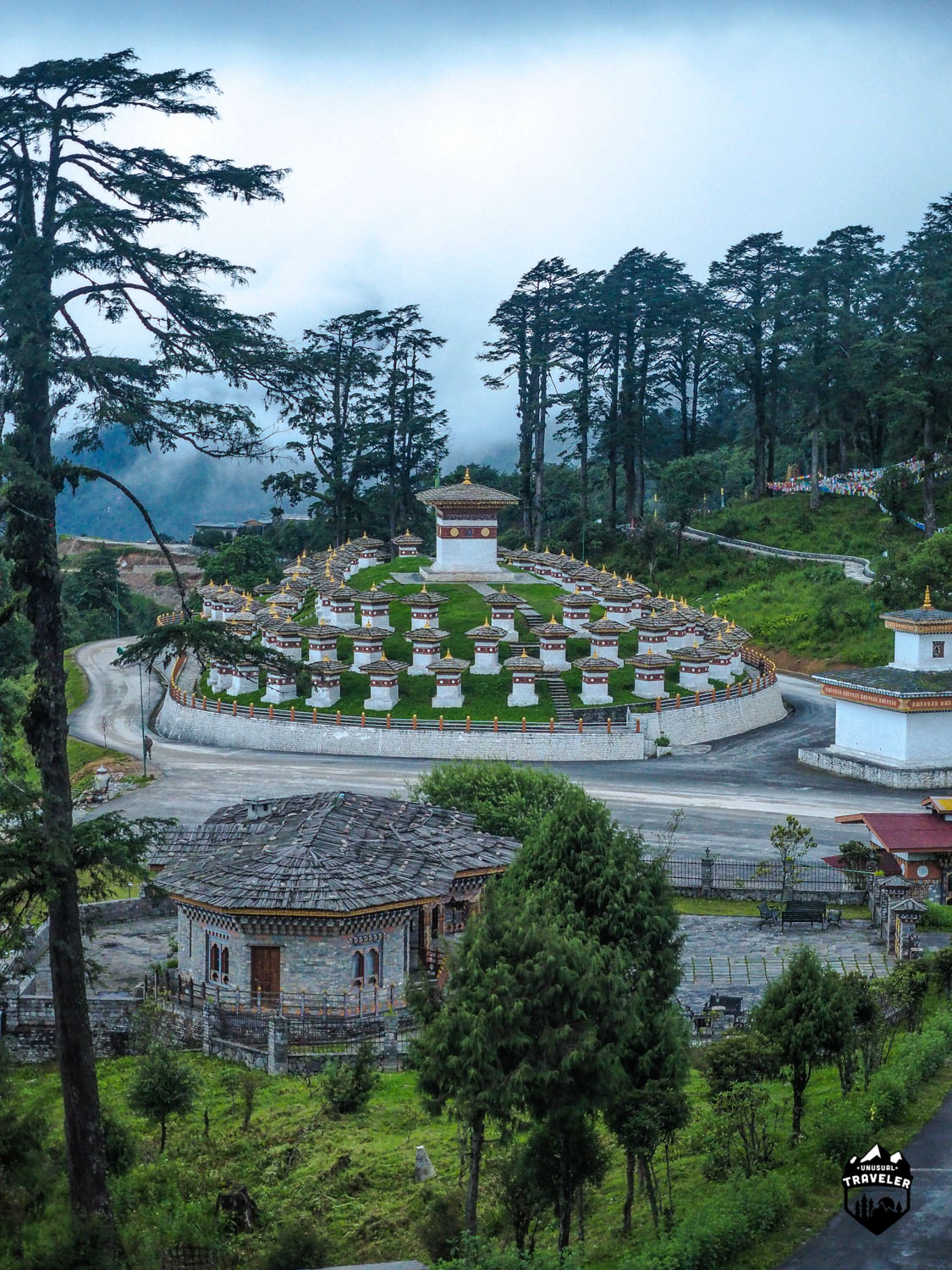 Dochula Pass is the at 3100m (10171ft) high mountain pass you will have to cross when traveling from Thimphu to the eastern part of Bhutan.