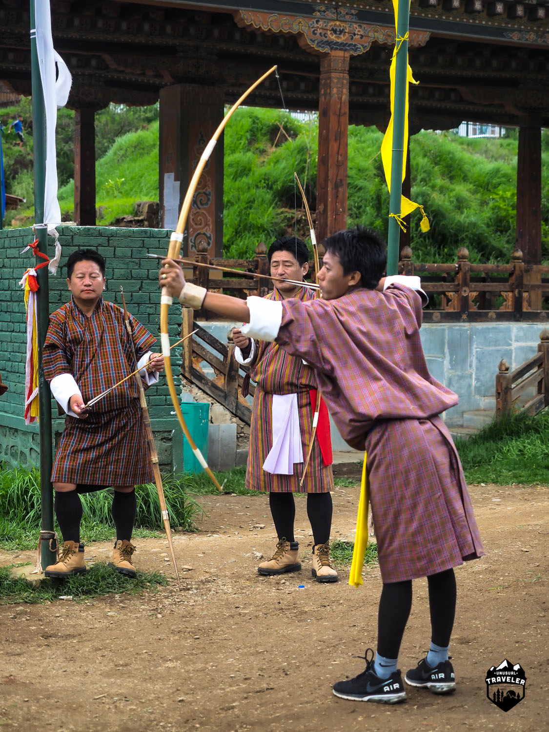 Archery is the national sport of Bhutan, and still widely played around the country.