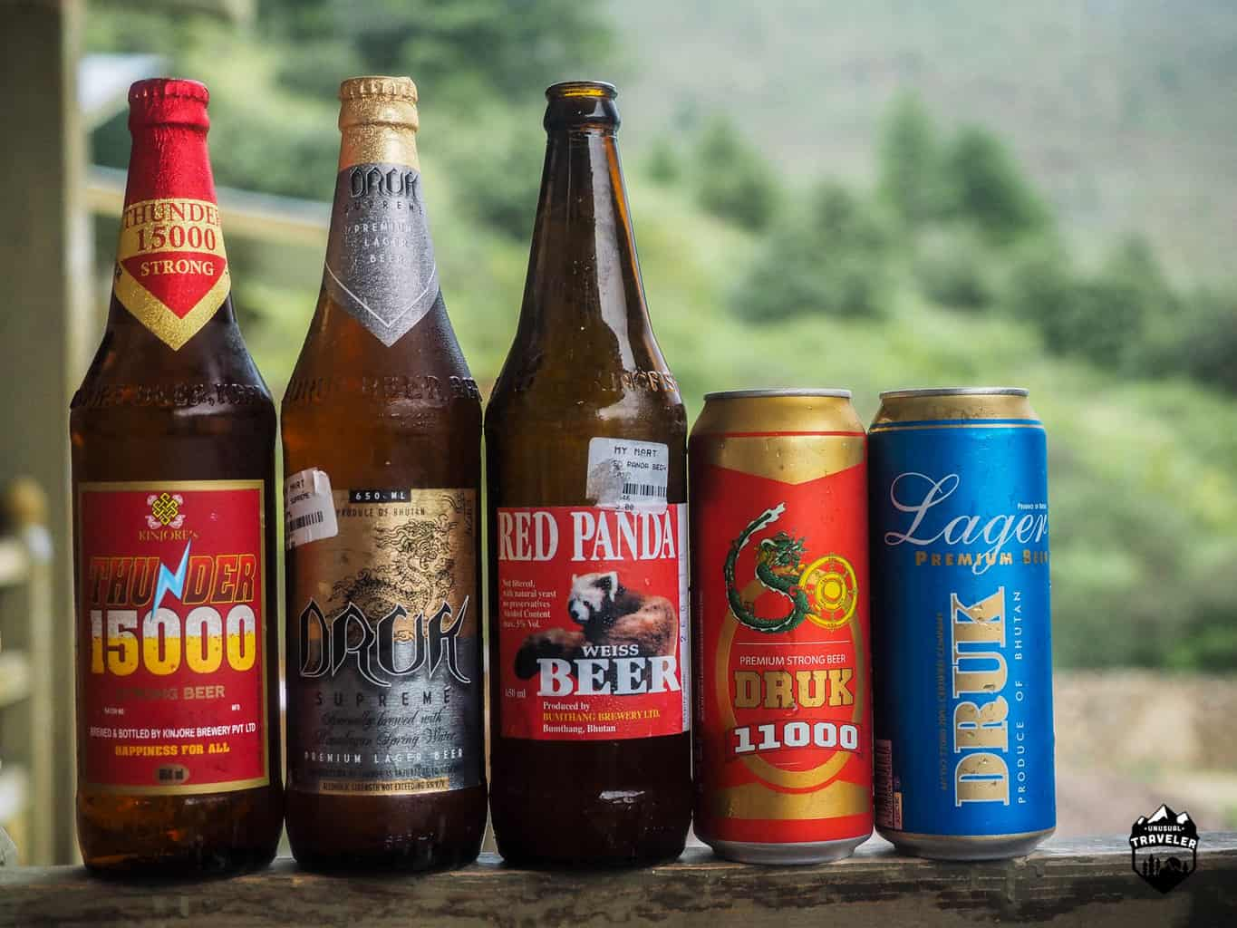 All the local beer types in Bhutan