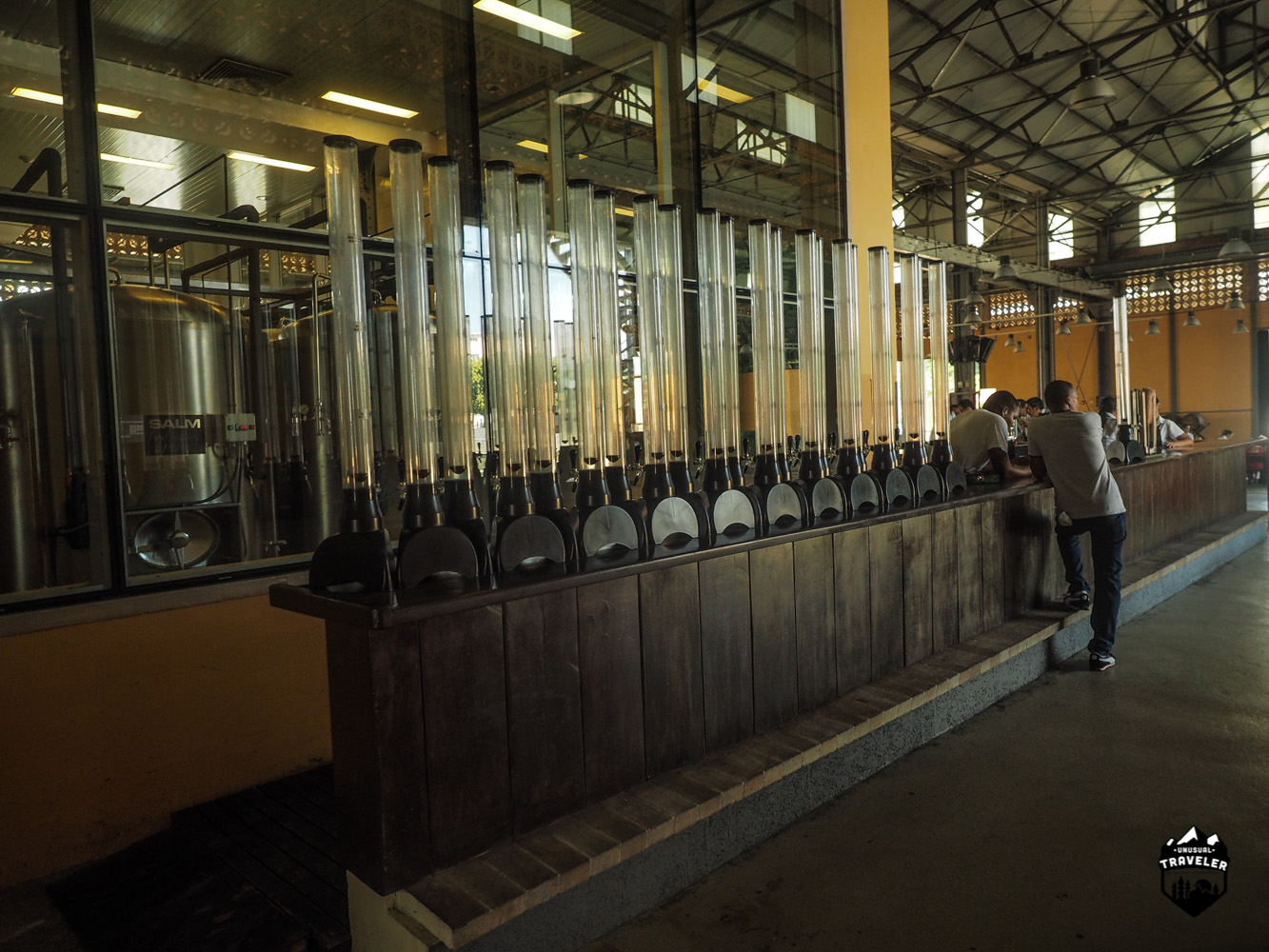 Stucked up on beer towers Havana Cuba craft beer