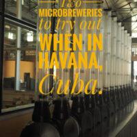Guide to craft beer in Havana the capital of Cuba