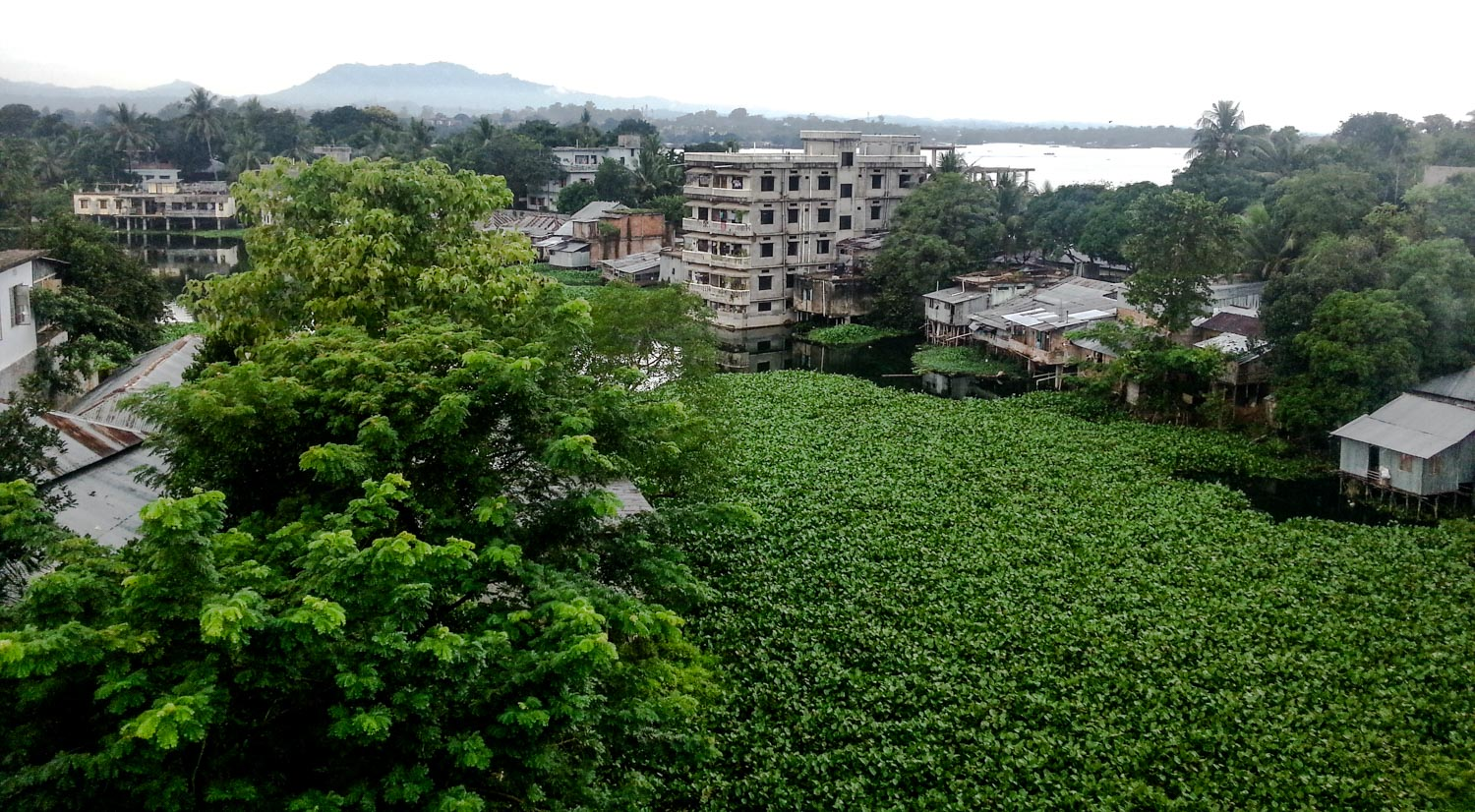 My view from my hotel room in Rangamati.