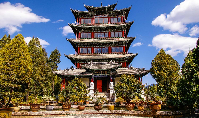 The Wangu Temple that over looks lijiang