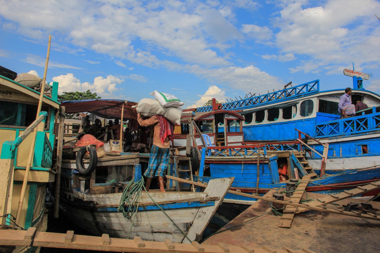 Like everywhere elsei n Bangladesh is done by boats