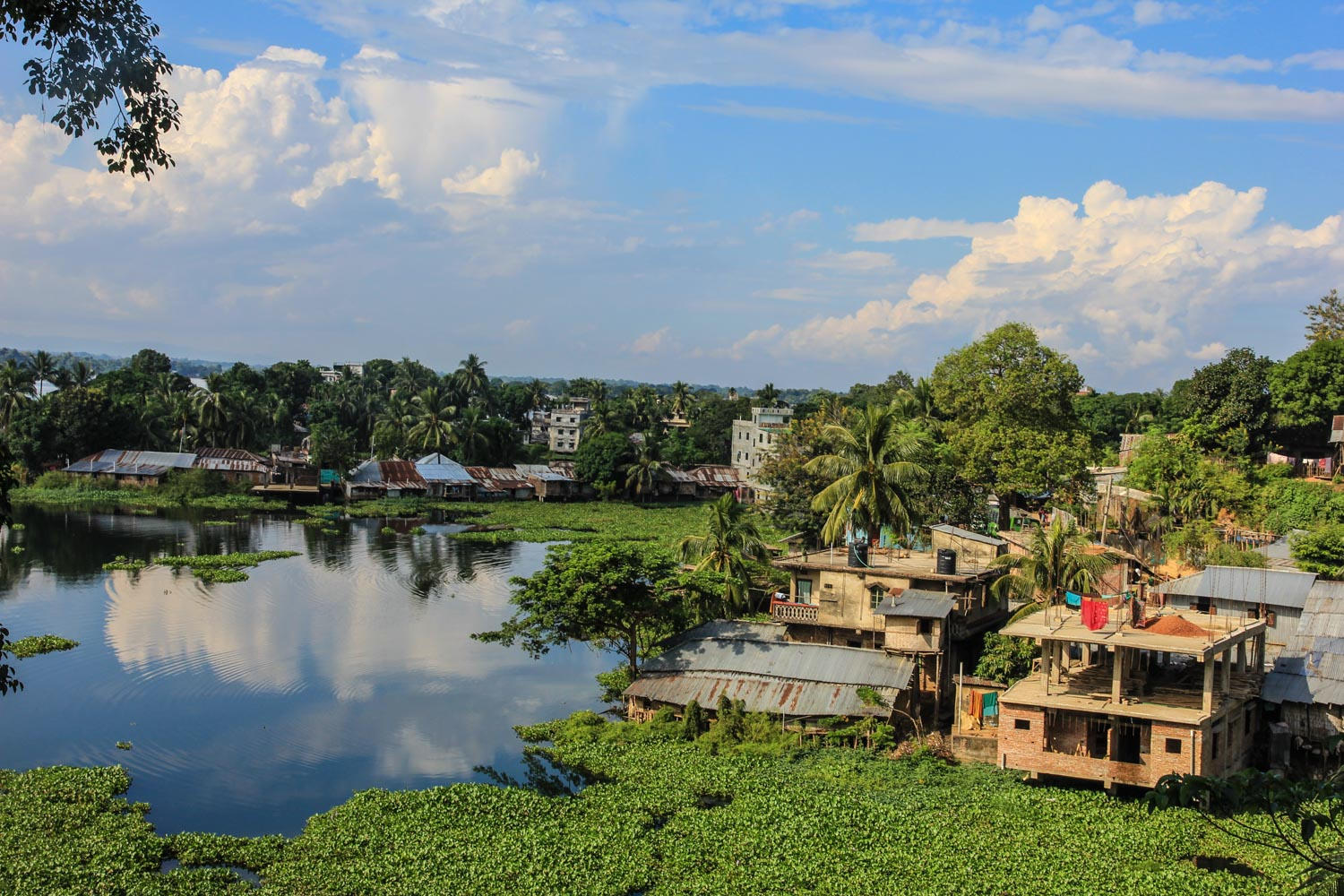 My view from my hotel room in Rangamati