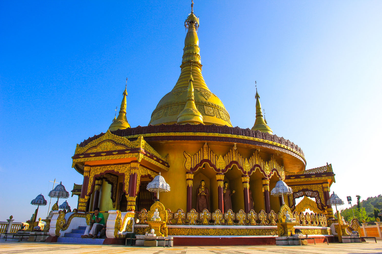 Buddha Dhatu Jadi the golden temple in Bangladesh