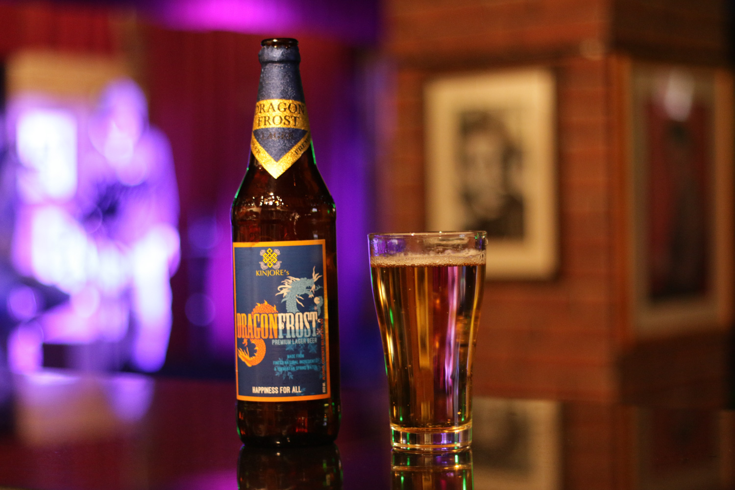 DragonFrost got the coolest name of all beers in Bhutan, but it´s not the best tasting one.